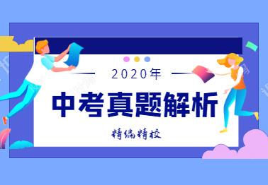 2020中考試題解析