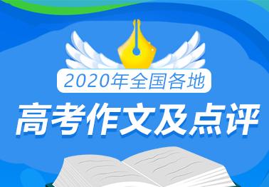 2020年全国各地高考作文及点评
