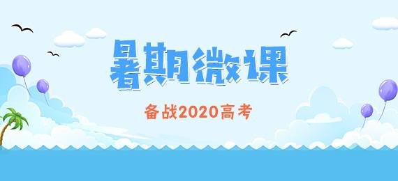 【暑期微课 轻松学】备战2020年高考一轮复习