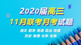 2020屆高三11月聯考月考試題