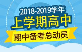 2018-2019学年上学期高中期中考备考总动员