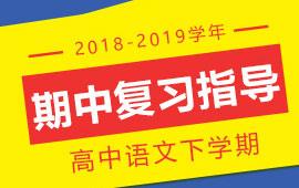 2018-2019学年高中语文下学期期中复习指导