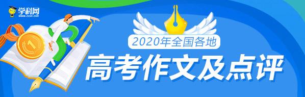 2020年88必发电脑版网页登录作文题目及点评