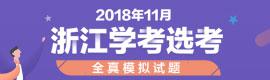 2018年11月浙江学考(选考)全真模拟试卷