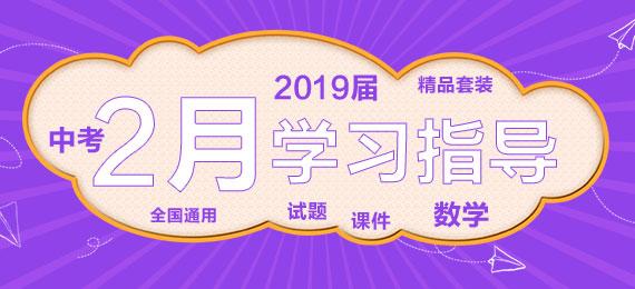 2019届中考2月数学学习指导
