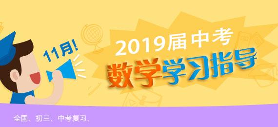 2019届中考11月数学学习指导