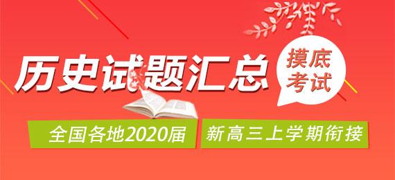 全国各地2020届新高三上学期衔接摸底考试历史试题汇总