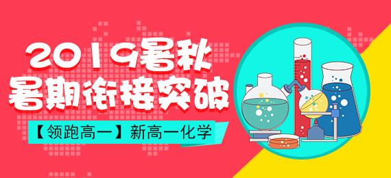 【领跑高一】2019暑秋新高一化学暑期顺利衔接突破难关