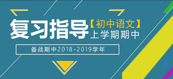 备战期中2018-2019学年初中语文上学期期中复习指导