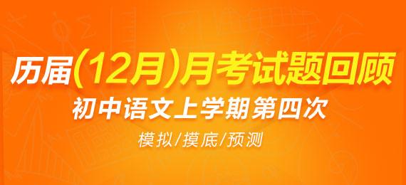历届(11-19年)初中语文上学期第四次(12月)月考试题回顾