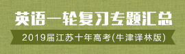 2019届江苏十年高考英语一轮复习专题汇总(牛津译林版)
