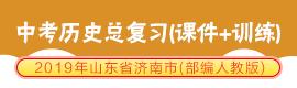 2019年山东省济南市(部编人教版)中考历史总复习(课件+训练)