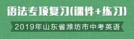 2019年山东省潍坊市中考英语语法专项复习(课件+练习)