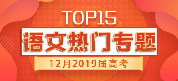 12月2019届高考语文热点专题TOP15