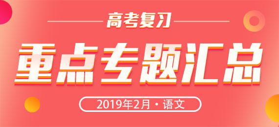 2019届高考语文复习月度重点专题集-2月
