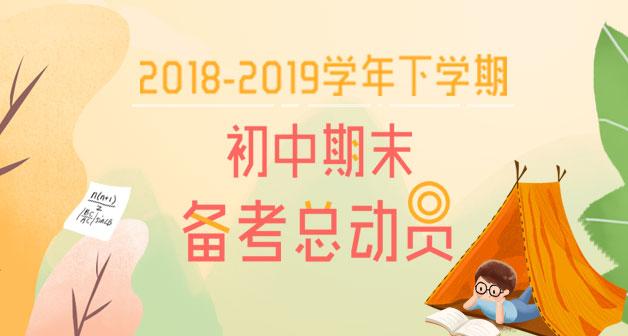 2018-2019学年下学期初中期末考备考总动员