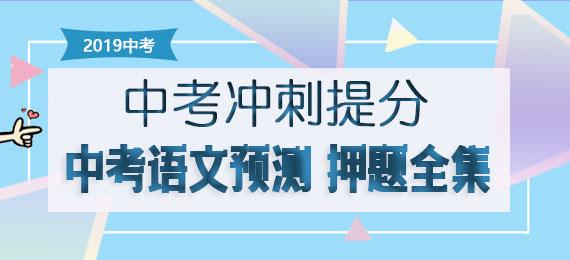 【冲刺提分】2019届中考语文预测 押题全集