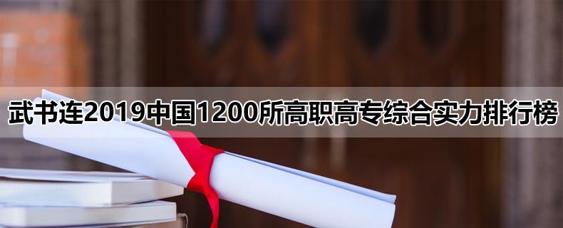 武书连2019中国1200所高职高专综合实力排行榜